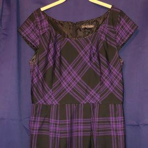 Jessica Howard purple plaid pencil dress